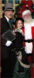 Carolers and Santa