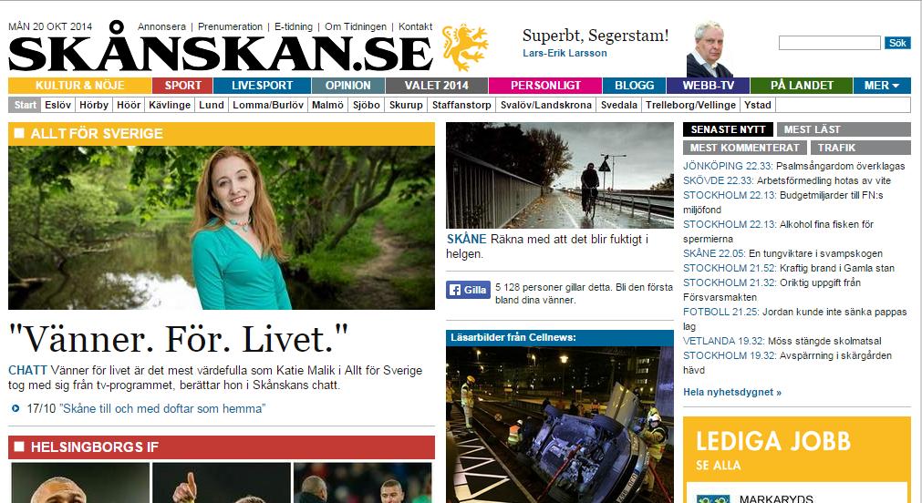 Transcript: Live chat with Skånska Dagbladet