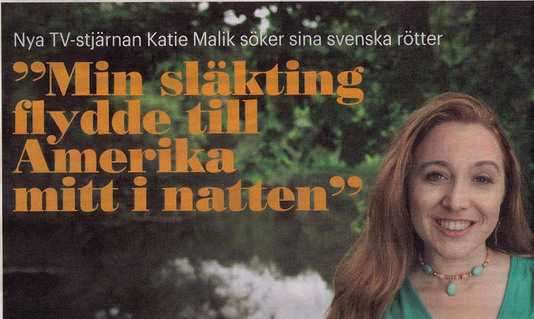 Land tidning: New TV-star Katie Malik seeks her Swedish roots