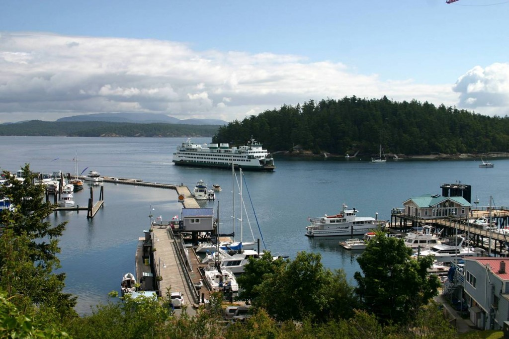Friday Harbor, San Juan Island.  One of my favorite vacation stops from my childhood.  We caught shrimp right off the dock!