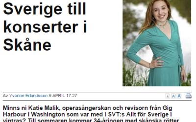 """Skanskan.se: """"From Allt för Sverige to Concerts in Skåne"""""""