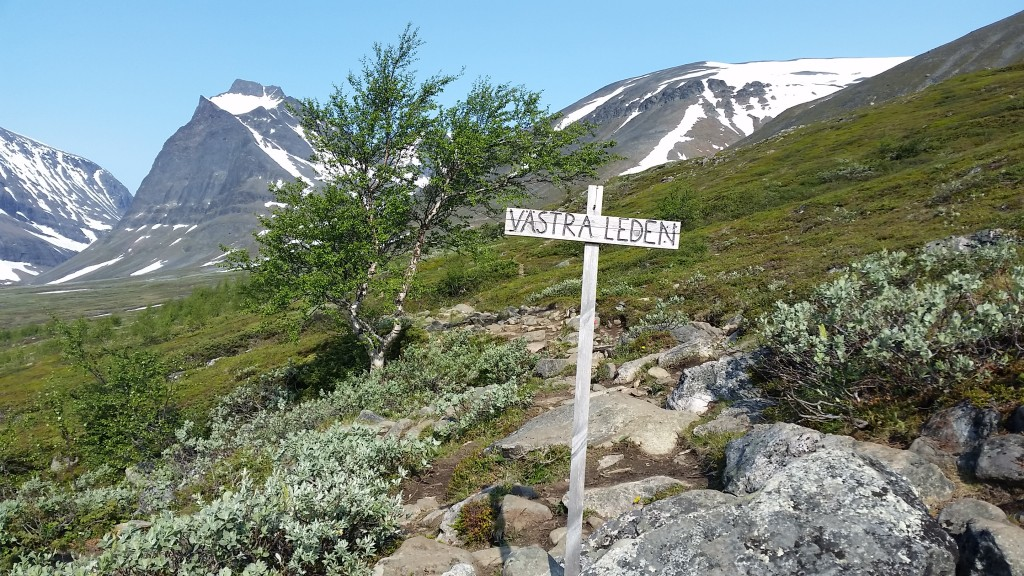 The head of the western trail up Kebnekaise