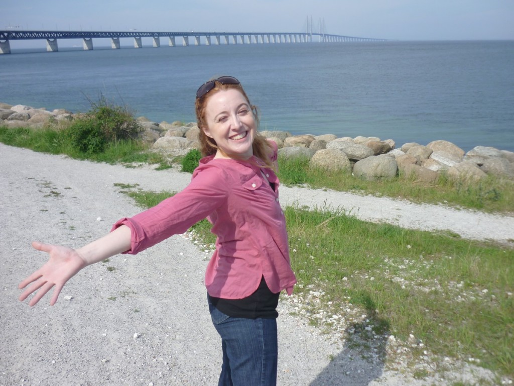 My first steps on Swedish soil, with the Öresund bridge in the background.