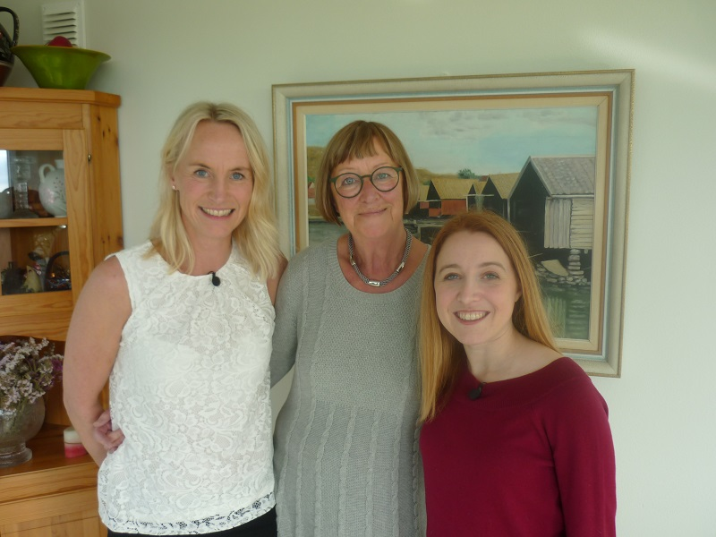 Anne and I with her mamma, who reminds me of my mom